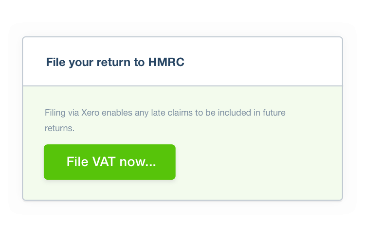 Submit online VAT returns to HMRC