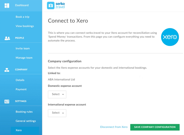 connect to Xero