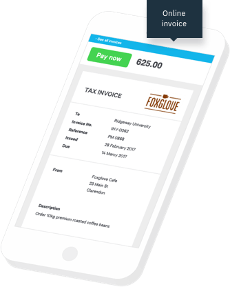 Xero invoices on mobile