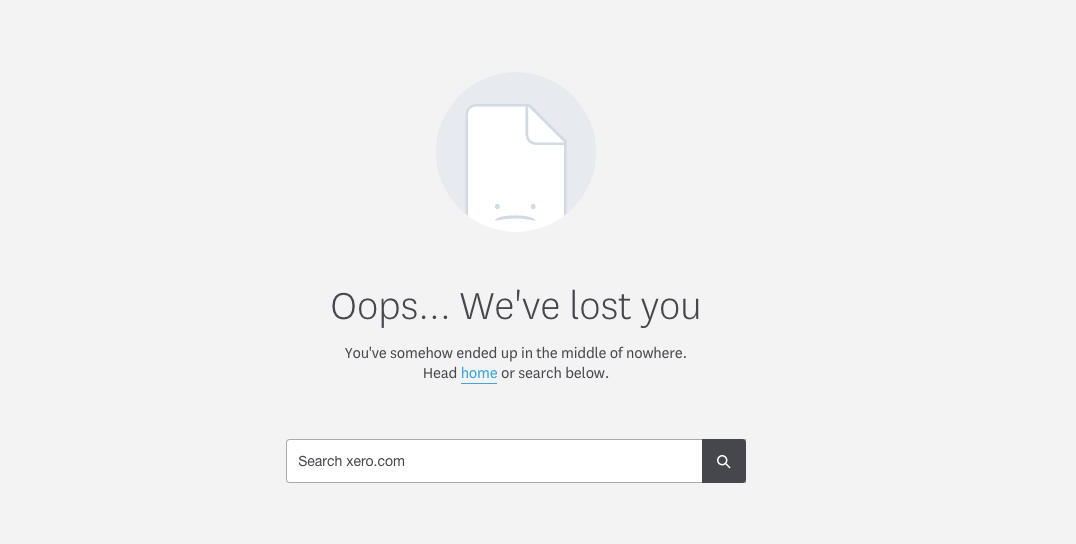 Here's the 404 error message