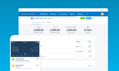 manage projects with Xero project management