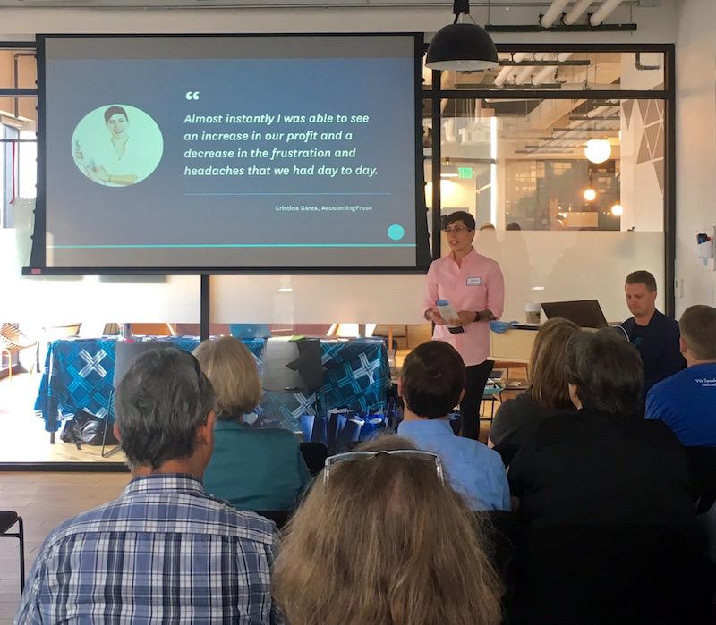 Christina presents to accountants at Xero Hour