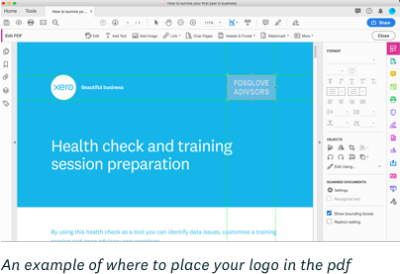 Customise health check pdf