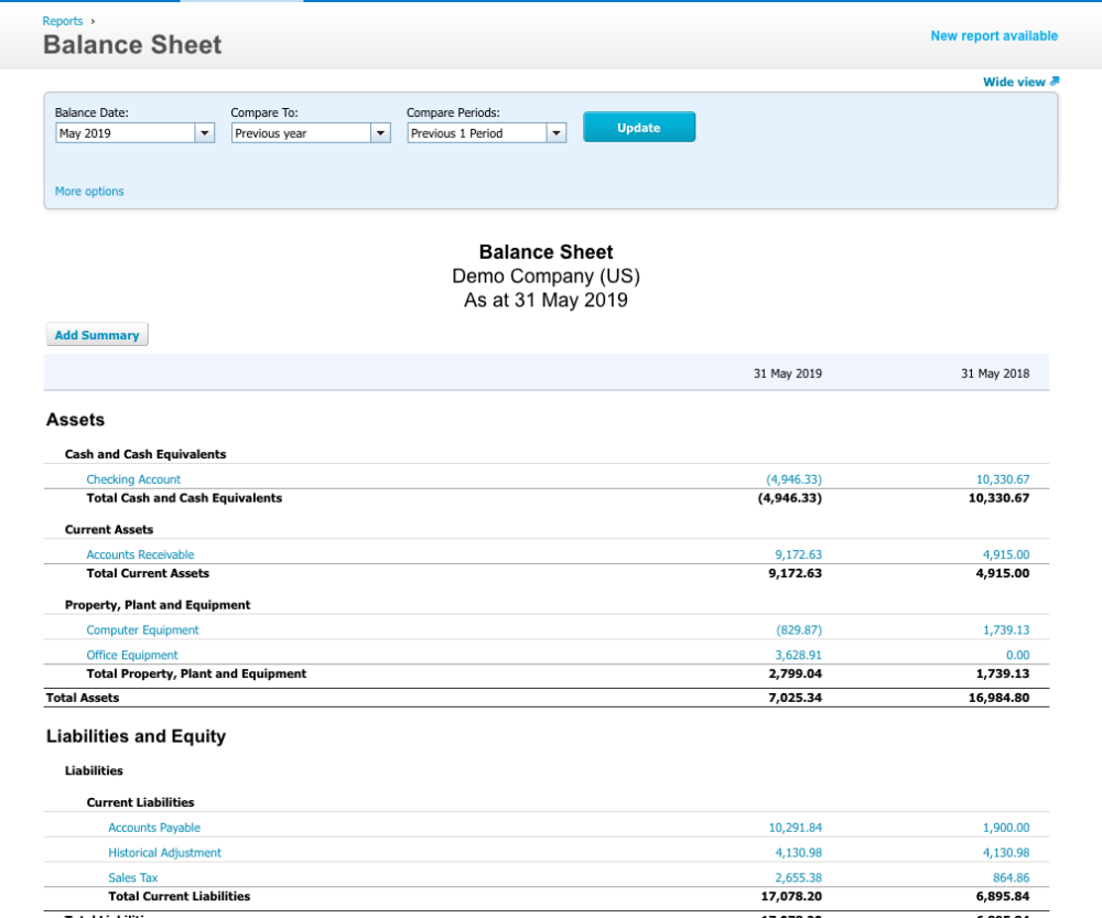 Xero Product: reporting
