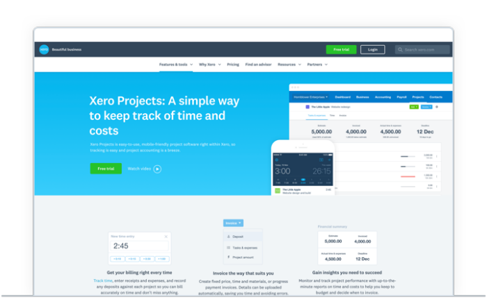 Xero projects
