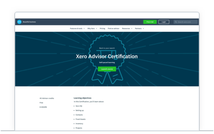 Xero Advisor Certification