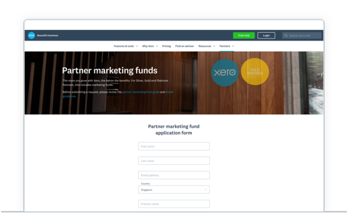 Partner marketing funds