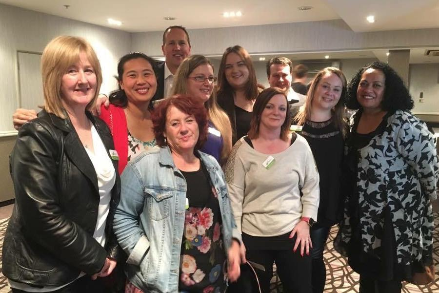 Joanne and her team at the New Zealand bookkeepers conference