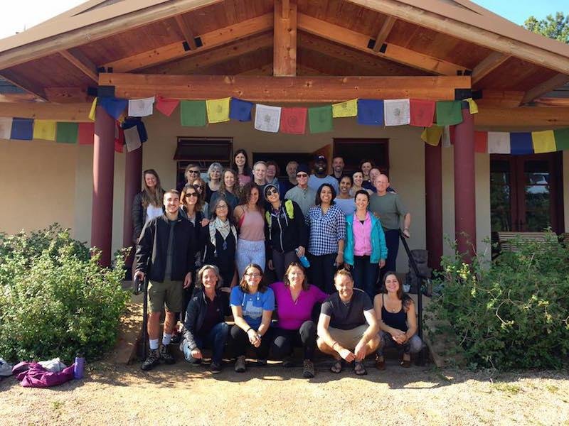 Group at Diamond Mountain monastery