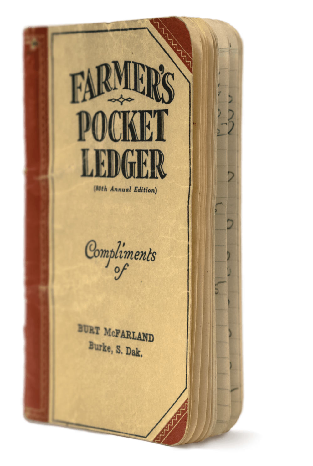 Pocket ledger open