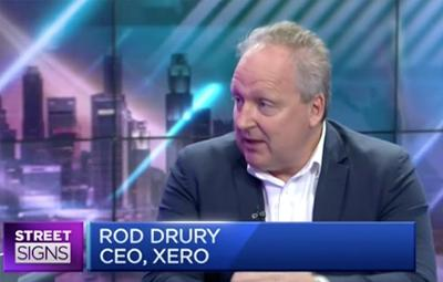 Rod Drury talks to CNBC about Xero's partnership with DBS in Singapore.