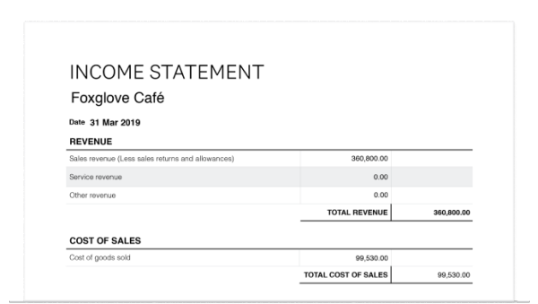 Free Income Statement Template Income Statement Generator Xero Us